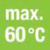 Max. 60 graden C voor warmtepomp